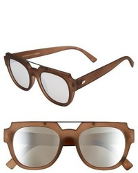 Le Specs La Habana 52mm Retro Sunglasses Mocha Rubber