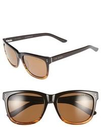 Ted Baker London 56mm Polarized Retro Sunglasses Black Fade