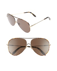 Victoria Beckham Loop 62mm Oversize Aviator Sunglasses