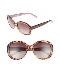 Lilly Pulitzer Magnolia 57mm Polarized Round Sunglasses