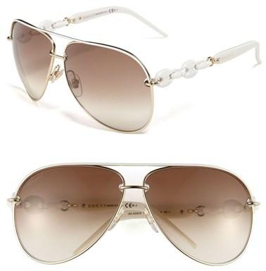 675c3cd9d7c ... Gucci Marina Chain 63mm Aviator Sunglasses ...