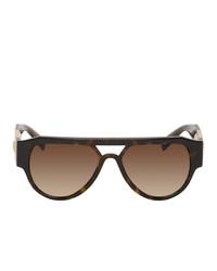 Versace Medusa Stud Aviator Sunglasses
