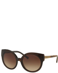 Michael Kors Michl Kors Round Cat Eye Sunglasses Brown