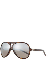 Marc Jacobs Mirrored Plastic Aviator Sunglasses