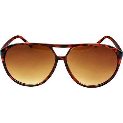 MLC Eyewear Shield Brown Leopard Sunglasses