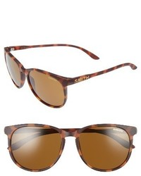 Smith Mt Shasta 55mm Polarized Keyhole Sunglasses Matte Tortoise