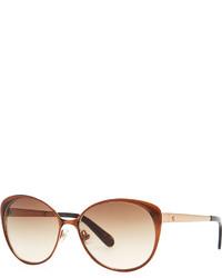 Kate Spade New York Cassia Enamel Sunglasses Brown