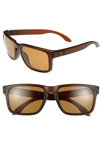 oakley brown sunglasses  Oakley Holbrook 55mm Polarized Sunglasses Brown One Size