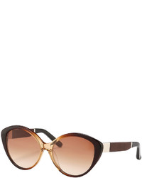 The Row Ombre Cat Eye Sunglasses Brown