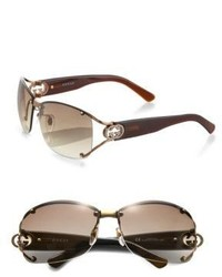 Gucci Open Temple Oval Sunglasses