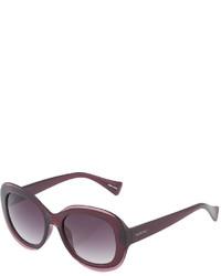 36f07669b6 Ellen Tracy Oversized Oval Plastic Sunglasses Wine