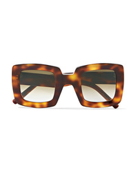 Marni Oversized Square Frame Tortoiseshell Acetate Sunglasses