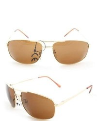 Overstock 7837 Gold And Brown Wrap Sunglasses