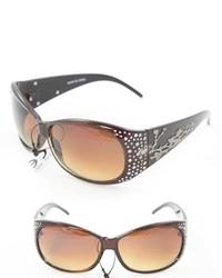 Overstock P2089 Brown Round Sunglasses