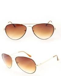 Overstock Swg 385b Brown Metal Aviator Sunglasses