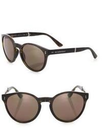 Burberry Phantos 55mm Folding Round Sunglasses