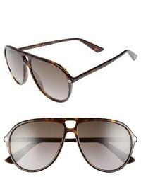 Gucci Pilot 59mm Sunglasses Havana Brown