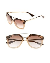 Prada Pilot 54mm Sunglasses Brown Havana One Size