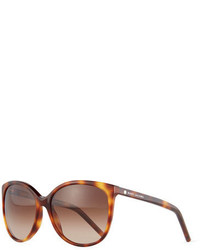 Marc Jacobs Rectangular Cat Eye Sunglasses Havana