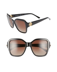 Tory Burch Reva 56mm Polarized Square Sunglasses