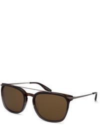 Barton Perreira Ronson Polarized Rectangular Top Bar Sunglasses