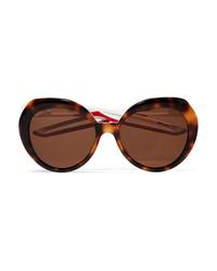 Balenciaga Round Frame Tortoiseshell Acetate Sunglasses
