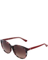 Gucci Round Havana Plastic Sunglasses