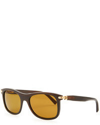 c571fce70d Brioni Horn Metal Aviator Sunglasses Golden Out of stock · Brioni Round Horn  Polarized Sunglasses Brown