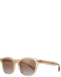 Oliver Peoples Sheldrake Plus Square Plastic Sunglasses