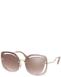 43f990bce91 ... Miu Miu Square Cutout Metal Sunglasses