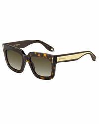Givenchy Square Metal Band Sunglasses Havana