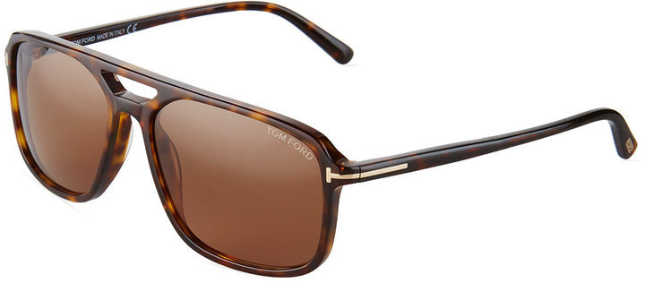 969735eea5b24 Terry Square Acetate Sunglasses Brown Tortoise. Brown Sunglasses by Tom Ford