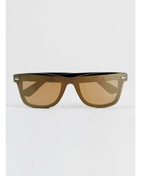 Topman Black Gold Flash Sunglasses