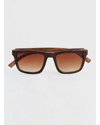 Topman Brown Striped Sunglasses