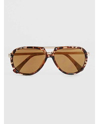 Topman Tortoise Shell Aviator Sunglasses