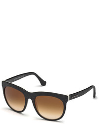 Balenciaga Two Tone Pebbled Acetate Sunglasses Blackwhite