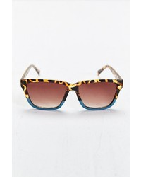Urban Outfitters Tortoise Turquoise Square Sunglasses