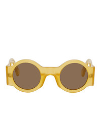 Dries Van Noten Yellow Linda Farrow Edition 98 C11 Sunglasses