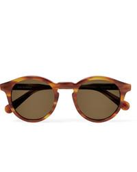 Sun Buddies Zinedine Round Frame Tortoiseshell Acetate Sunglasses