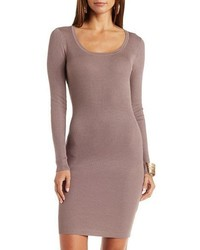 Charlotte Russe Ribbed Open Back Sweater Dress