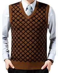 Brown Sweater Vests For Men Mens Fashion