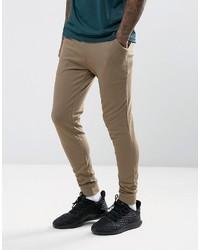Super skinny joggers in brown medium 3764350