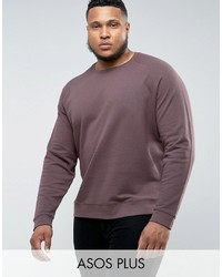 Asos Plus Sweatshirt In Brown