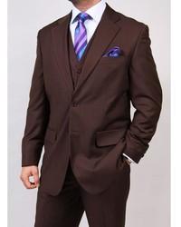 Ferrecci S Brown 2 Button Vested Suit