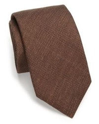 Saks Fifth Avenue Collection Solid Plaid Silk Wool Tie