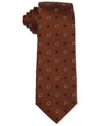 Isaia Diamond Box Silk Cotton Tie
