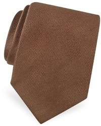 Forzieri Gold Line Solid Woven Silk Tie