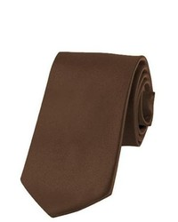 Jacob Alexander Solid Color Cocoa Brown Boys Tie By