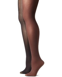 Betsey Johnson 2 Pair Pack Solid Opaque Tights
