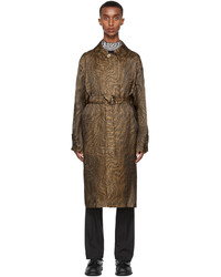 Fendi Brown Organza Ff Vertigo Trench Coat